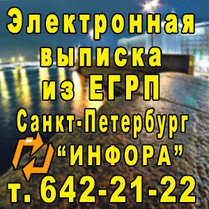 Электронная выписка из ЕГРП в СПб, т. 642-21-22