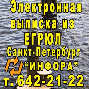 Электронная выписка из ЕГРЮЛ в СПб, т. 642-21-22