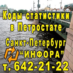 Коды статистики в Петростате в СПб, т. 642-21-22
